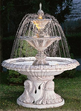 Fontane da giardino decorclass fontane in cemento bianco - Laghetti da giardino in cemento ...