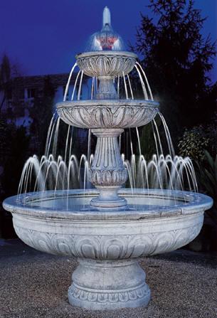 Fontane da giardino decorclass fontane in cemento bianco - Fontane da interno ...